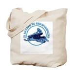 Snowmobile Tote Bag