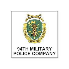 "USAR-94th-MP-Co-Shirt-1.gif Square Sticker 3"" x 3"""