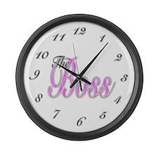 Pink Boss Lady Large Wall Clock