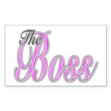 Pink Boss Lady Rectangle Bumper Stickers