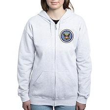 Navy-Logo-9.gif Zipped Hoodie