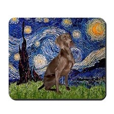 Starry Night & Weimaraner (Nv Mousepad