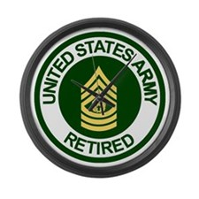 Army-Retired-CSM-Rank-Ring-2.gif Large Wall Clock