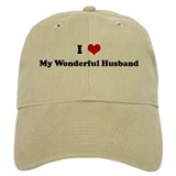 I Love My Wonderful Husband Baseball Cap