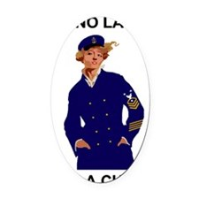 Navy-Humor-Im-A-Chief-Poster-E9.gi Oval Car Magnet