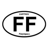 Fantasy Football - oval desig Oval Decal