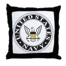 Navy-Logo-15.gif Throw Pillow