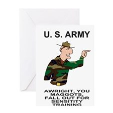 Army-Humor-Sensitivity-Poster.gif Greeting Card