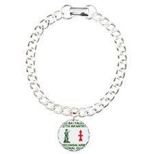 ARNG-127th-Infantry-Shir Charm Bracelet, One Charm