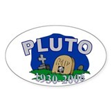 Pluto R.I.P. Oval Decal