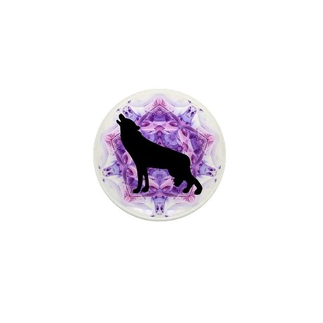 Wolf Mini Button (100 pack)