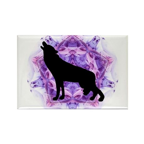 Wolf Rectangle Magnet (100 pack)