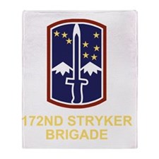 Army-172nd-Stryker-Bde-Black-Shirt-3 Throw Blanket