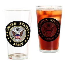 Army-Emblem-3-Black-Silver.gif Drinking Glass