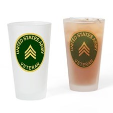 Army-Veteran-Sgt-Green.gif Drinking Glass
