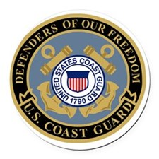 USCG-Defenders-Of-F... Round Car Magnet