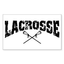Lacrosse Rectangle Decal