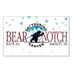 Bear Notch XC Rectangle Sticker