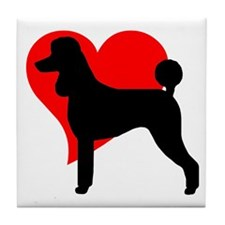 """Love Poodles"" Tile Coaster"