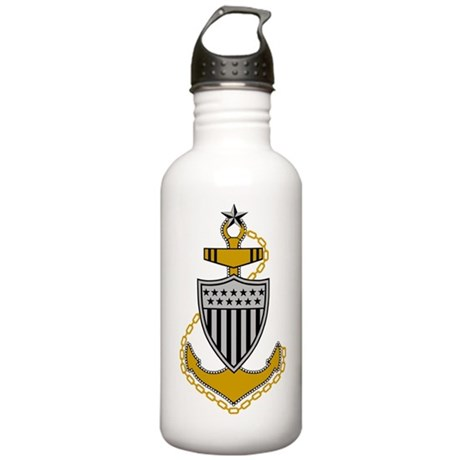 USCG-SCPO-Pin-Bonnie-Y Stainless Water Bottle 1.0L