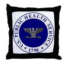 USPHS-CAPT-White-Cap.gif Throw Pillow