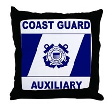 USCGAux-Flag-Shirt-2.gif Throw Pillow