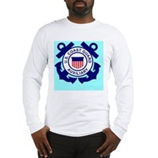 USCGAux-Button.gif Long Sleeve T-Shirt