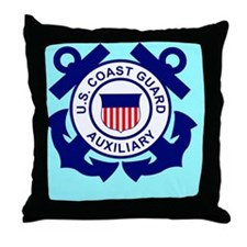 USCGAux-Button.gif Throw Pillow