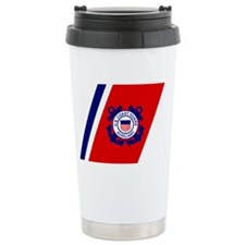 USCGAux-Racing-Stripe-Black-Cap Ceramic Travel Mug