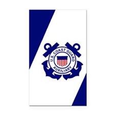 USCGAux-Flag-Journal.gif Rectangle Car Magnet