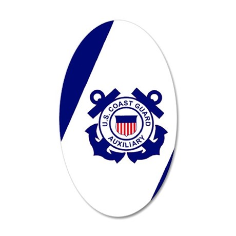 USCGAux-Flag-Journal.gif 35x21 Oval Wall Decal