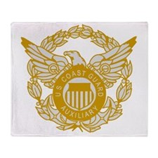 USCGAux-Eagle-Silver.gif Throw Blanket