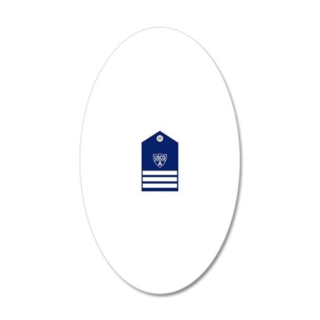 USCGAux-Rank-DCP-Black-Shirt 20x12 Oval Wall Decal