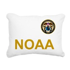 NOAA-Officer-Black-Shirt Rectangular Canvas Pillow