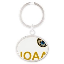 NOAA-Officer-Black-Shirt-2 Oval Keychain