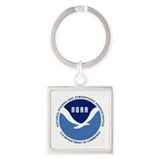 NOAA-Black-Shirt Square Keychain