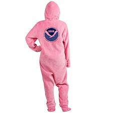 NOAA-Black-Shirt Footed Pajamas