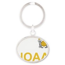NOAA-Officer-Black-Shirt-3 Oval Keychain