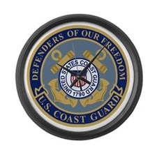 USCG-Defenders-Blue-Blue.gif Large Wall Clock