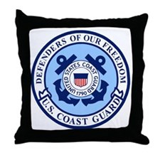 USCG-Defenders-Blue-White.gif Throw Pillow