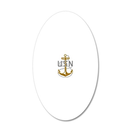 Navy-CPO-Black-Shirt-S 20x12 Oval Wall Decal