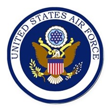 USAF-Patch-11-For-Greys.gif Round Car Magnet