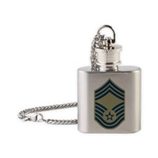 USAF-CMSgt-Olive.gif Flask Necklace