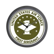 USAF-First-Sergeant-Avocado.gif Wall Clock
