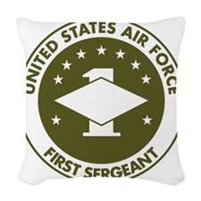 USAF-First-Sergeant-Avocado.gi Woven Throw Pillow