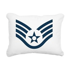 USAF-SSgt-Green-Shirt Rectangular Canvas Pillow