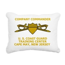USCG-TRACEN-CpMy-CC-Blac Rectangular Canvas Pillow
