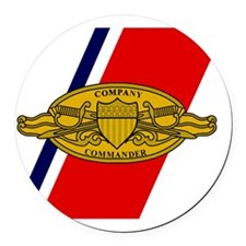 USCG-Company-Commander-Sticker.gi Round Car Magnet