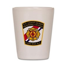 3-USCG-TRACEN-CpMy-Fire-Dept-Black-Shir Shot Glass