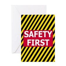 Safety-First-Journal.gif Greeting Card